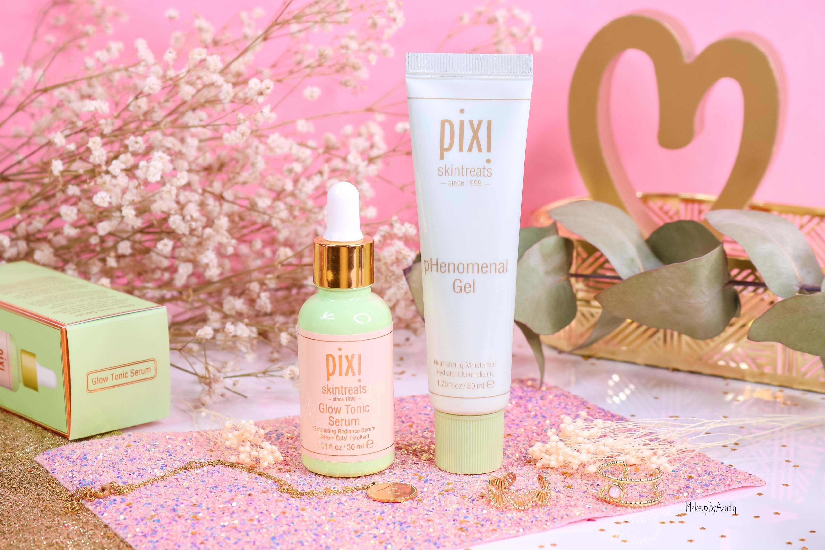 revue-routine-soin-skincare-pixi-beauty-visage-glow-tonic-serum-phenomenal-gel-aloe-vera-makeupbyazadig-sephora-avis-prix-best