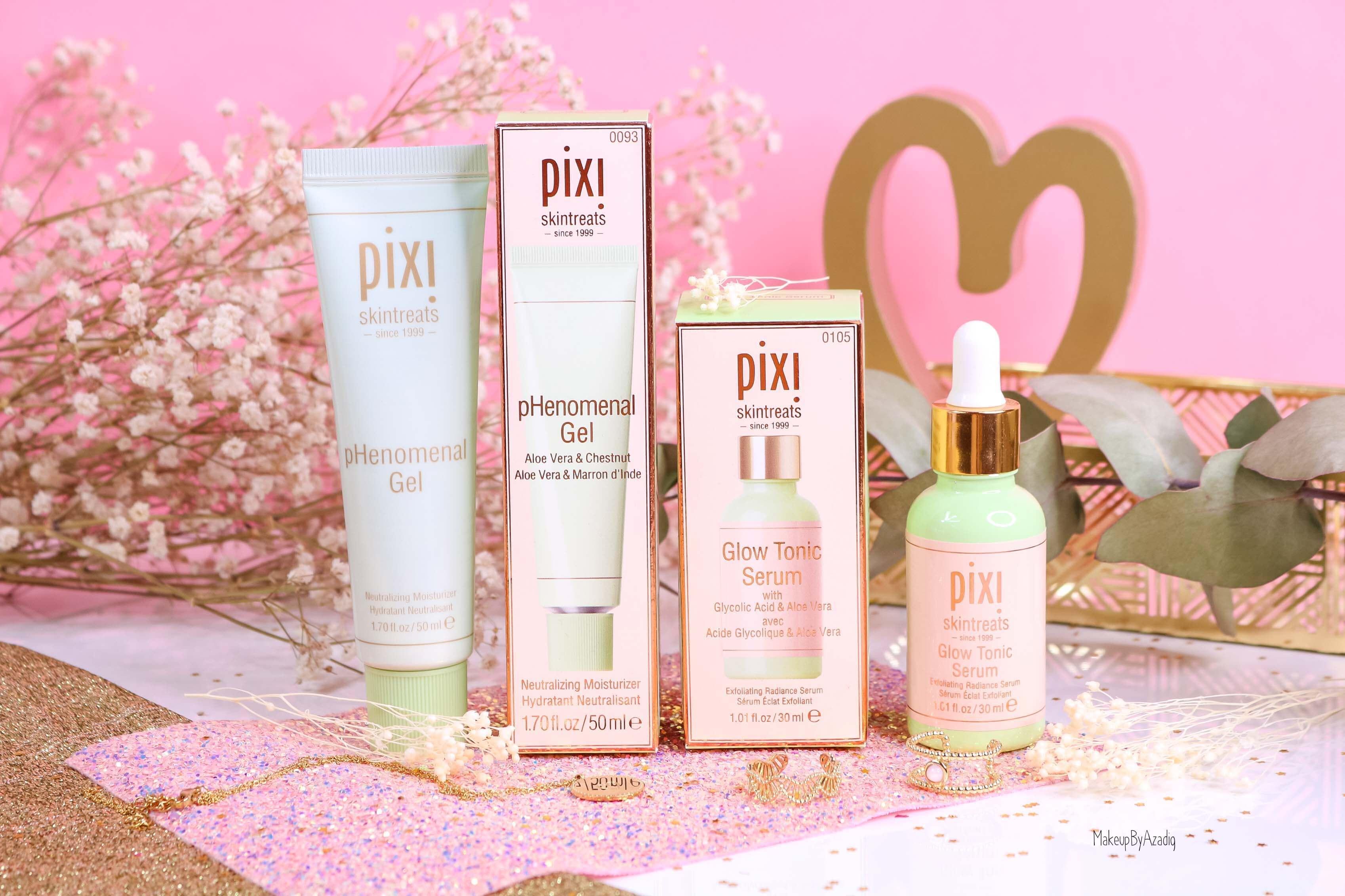 revue-routine-soin-skincare-pixi-beauty-visage-glow-tonic-serum-phenomenal-gel-aloe-vera-makeupbyazadig-sephora-avis-prix-miniature