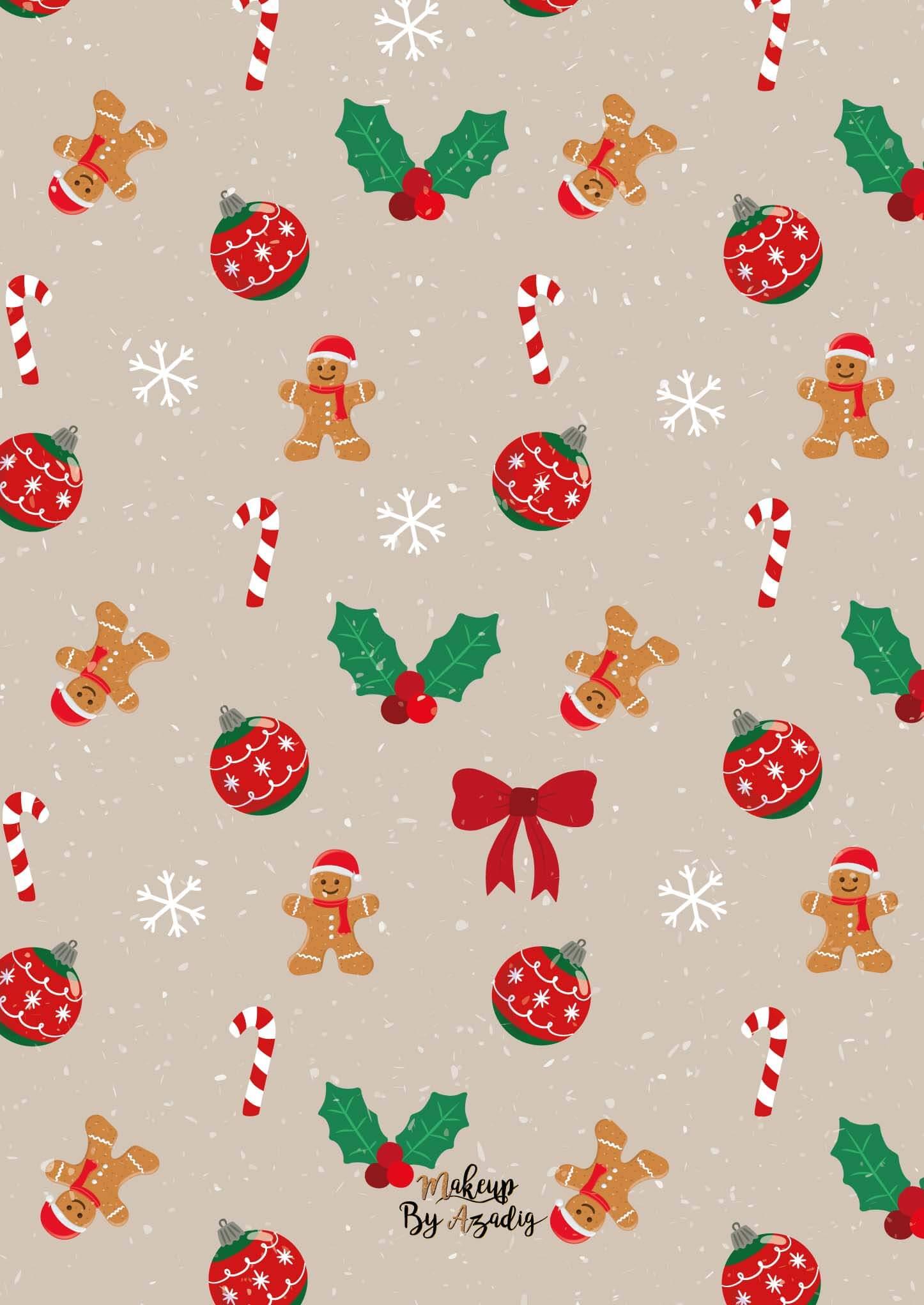 fond-decran-wallpaper-christmas-noel-elements-gingerbread-houx-decoration-december-ipad-tablette-apple-makeupbyazadig-tendance