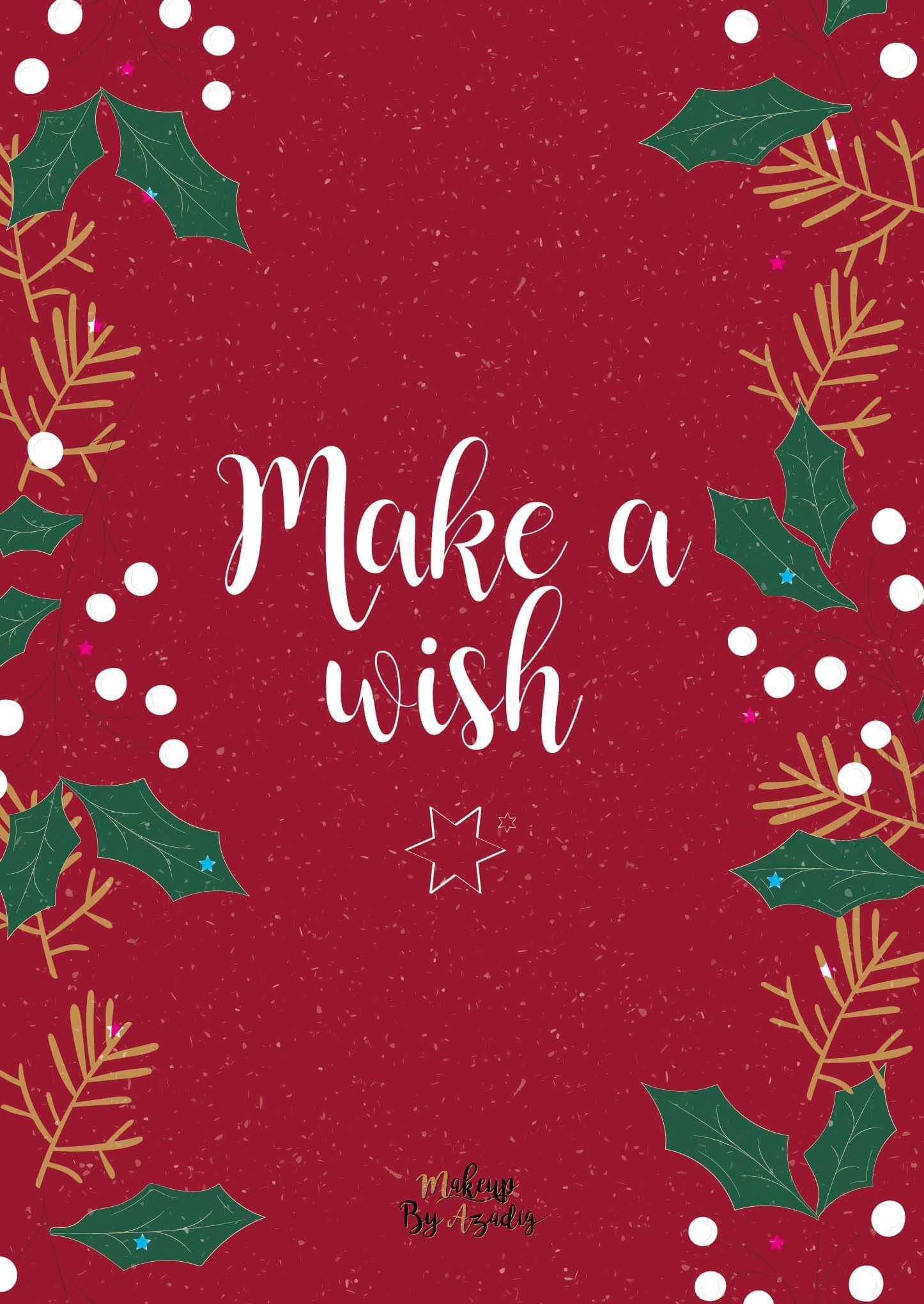 fond-decran-wallpaper-christmas-noel-make-a-wish-ipad-tablette-apple-makeupbyazadig-tendance