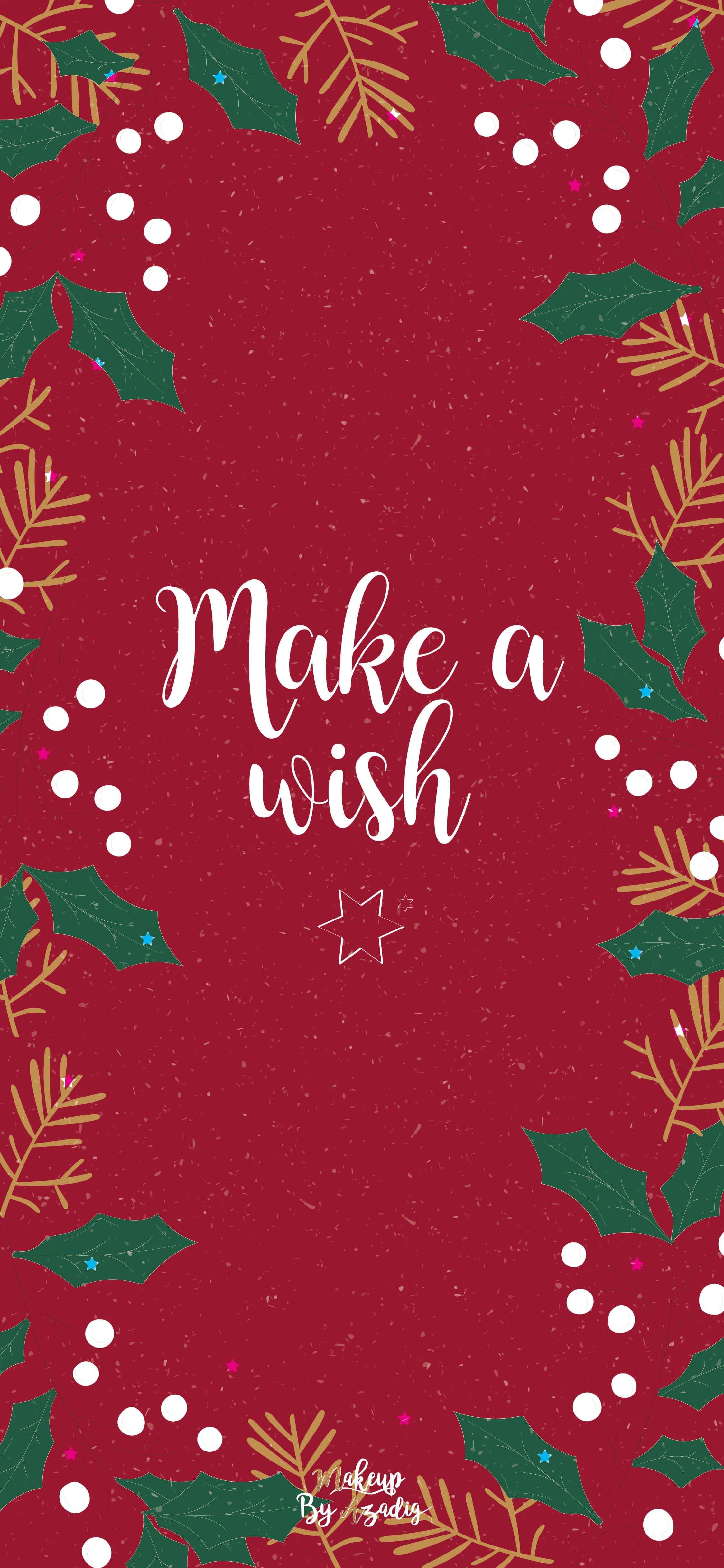fond-decran-wallpaper-christmas-noel-make-a-wish-iphone-samsung-huawai-makeupbyazadig-tendance