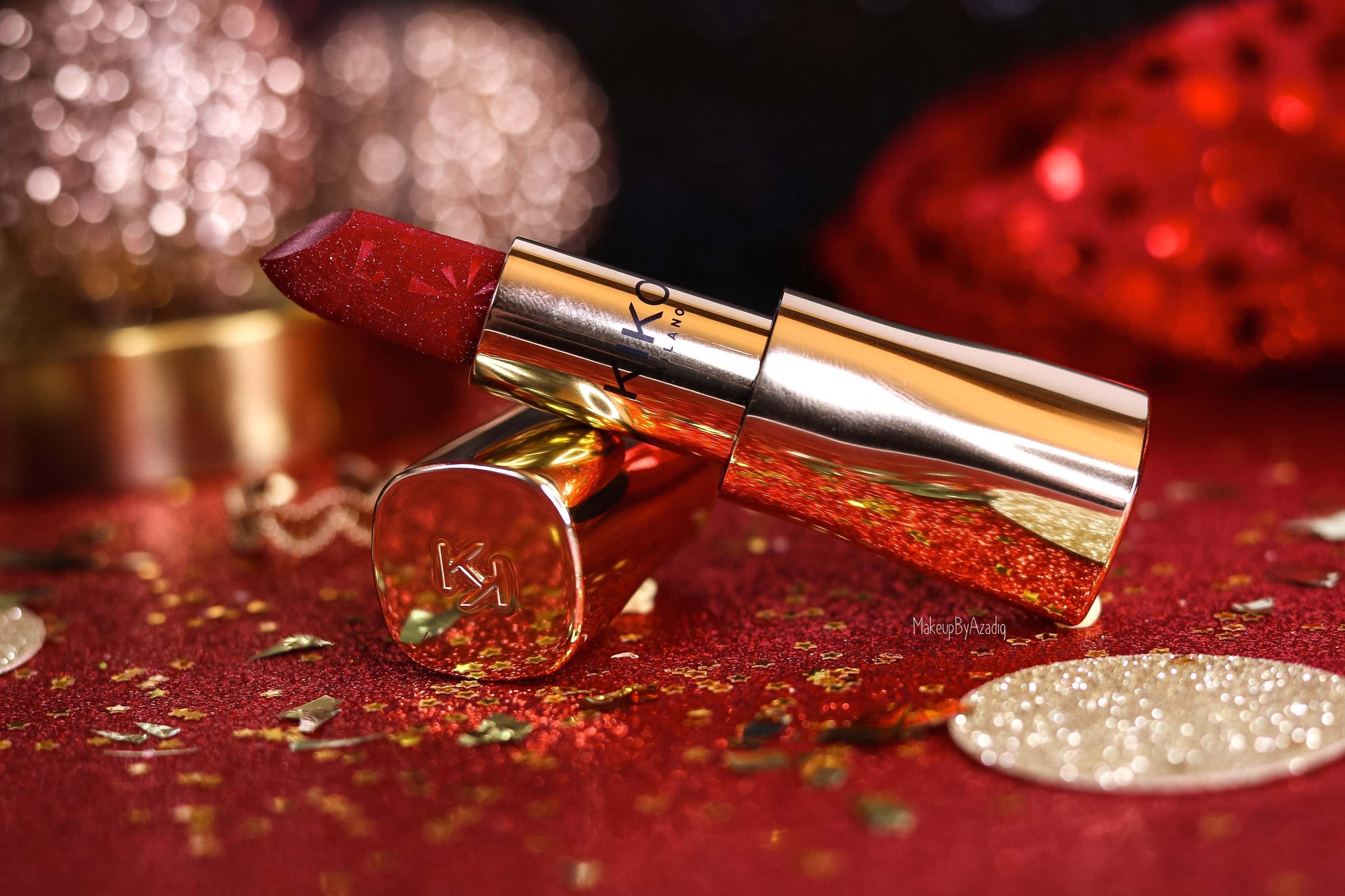 revue-collection-noel-kiko-milano-troyes-magical-holiday-rouge-levres-fard-paupieres-makeupbyazadig-avis-prix-swatch-paillete-2019-best