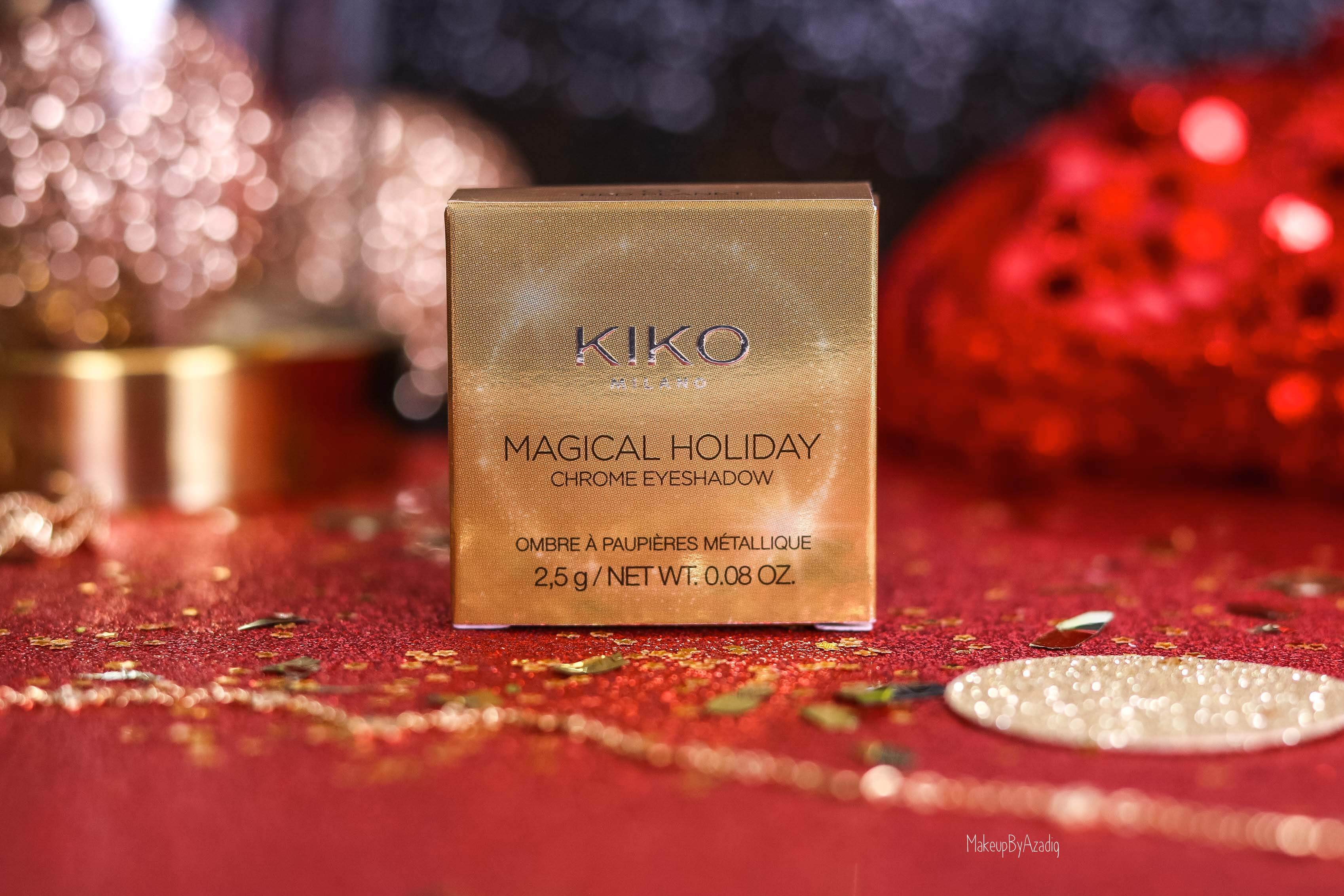 revue-collection-noel-kiko-milano-troyes-magical-holiday-rouge-levres-fard-paupieres-makeupbyazadig-avis-prix-swatch-paillete-2019-chrome