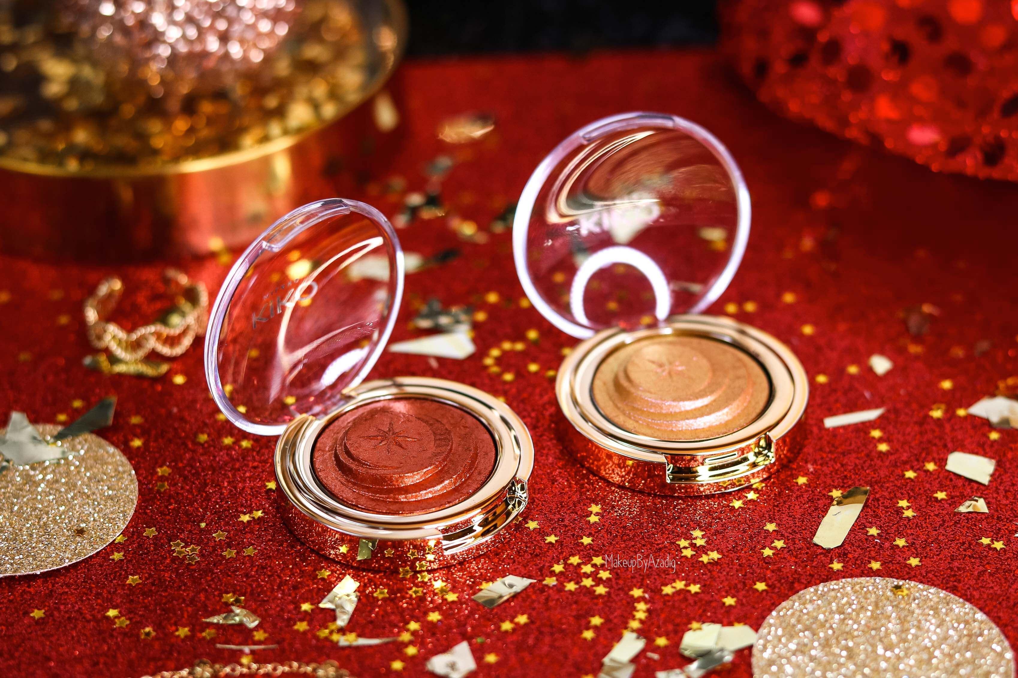 revue-collection-noel-kiko-milano-troyes-magical-holiday-rouge-levres-fard-paupieres-makeupbyazadig-avis-prix-swatch-paillete-2019-shadow