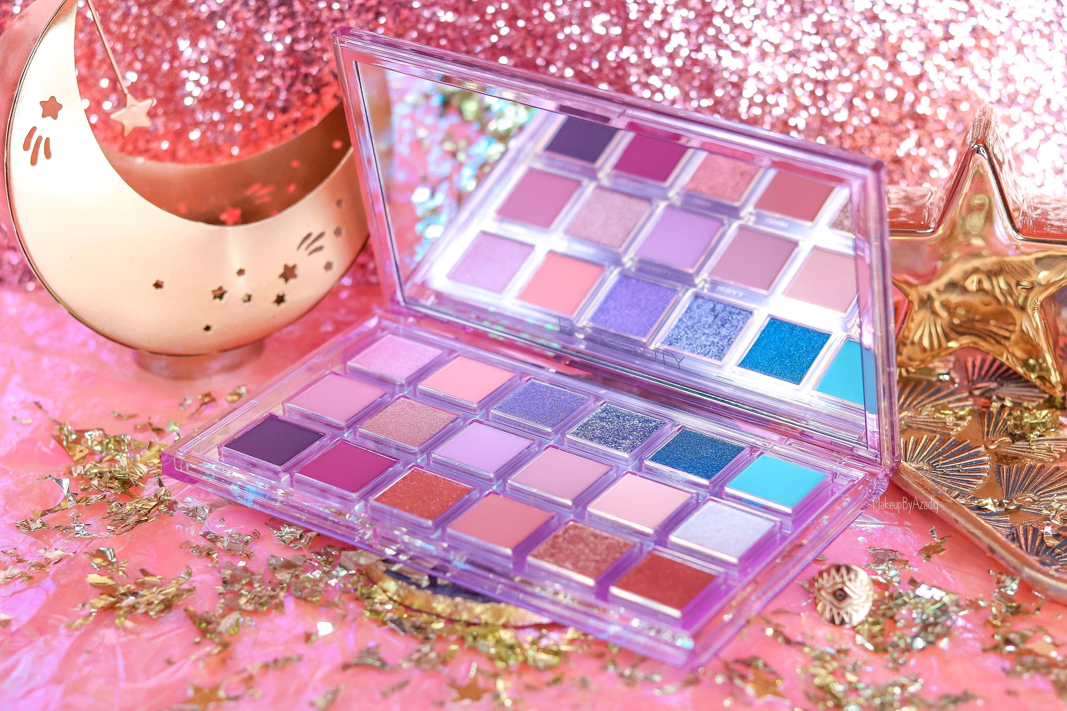 revue-palette-mercury-retrograde-huda-beauty-sephora-france-makeupbyazadig-avis-prix-swatch-astrologie-miniature