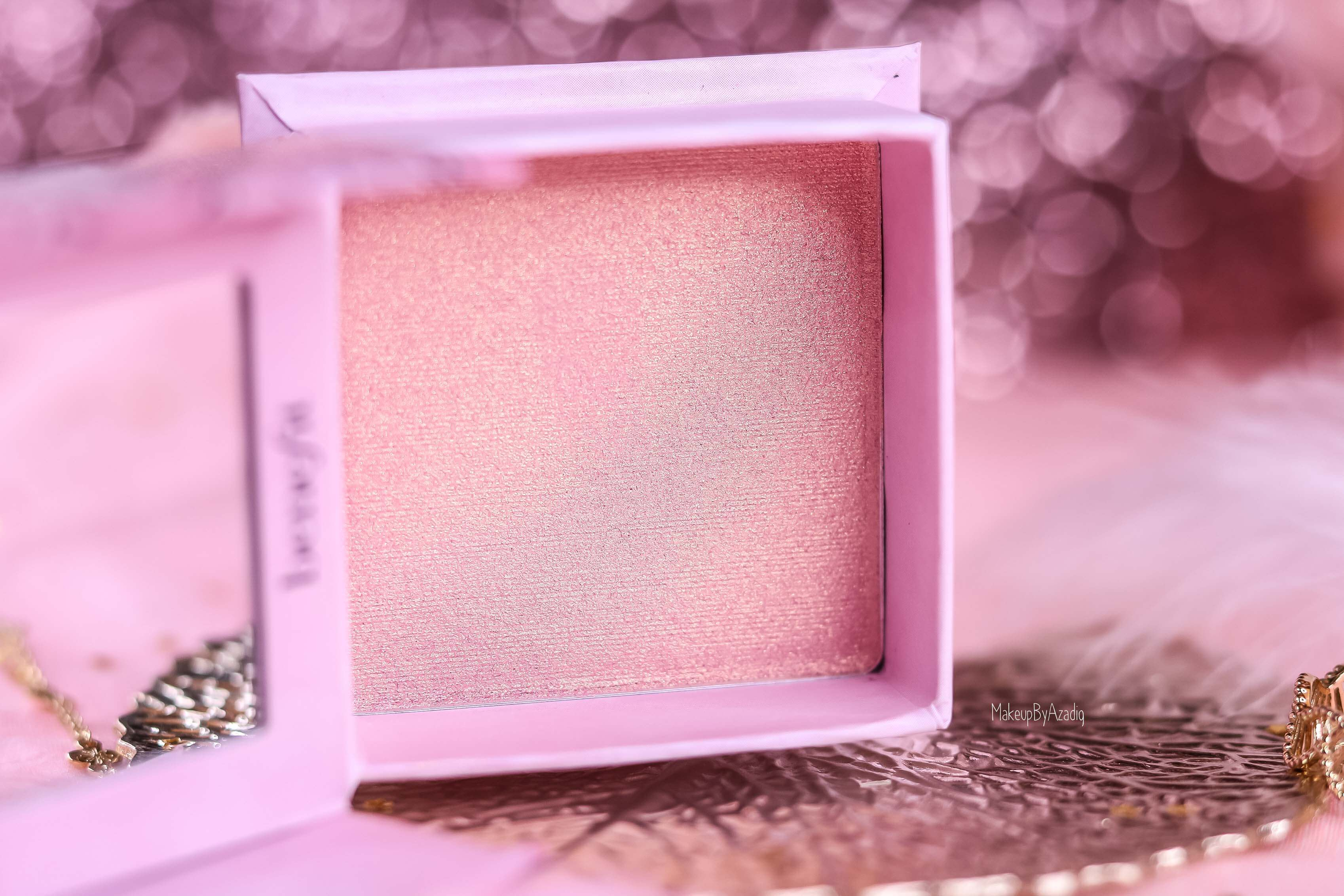 revue-highlighter-benefit-tickle-cookie-france-sephora-rose-gold-makeupbyazadig-avis-swatch-prix-couleur