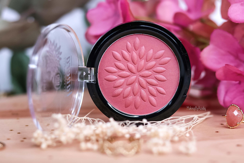 revue-maquillage-bio-naturel-certifie-vegan-lavera-makeupbyazadig-avis-prix-swatch-mascara-rouge-levres-palette-blush-blossom