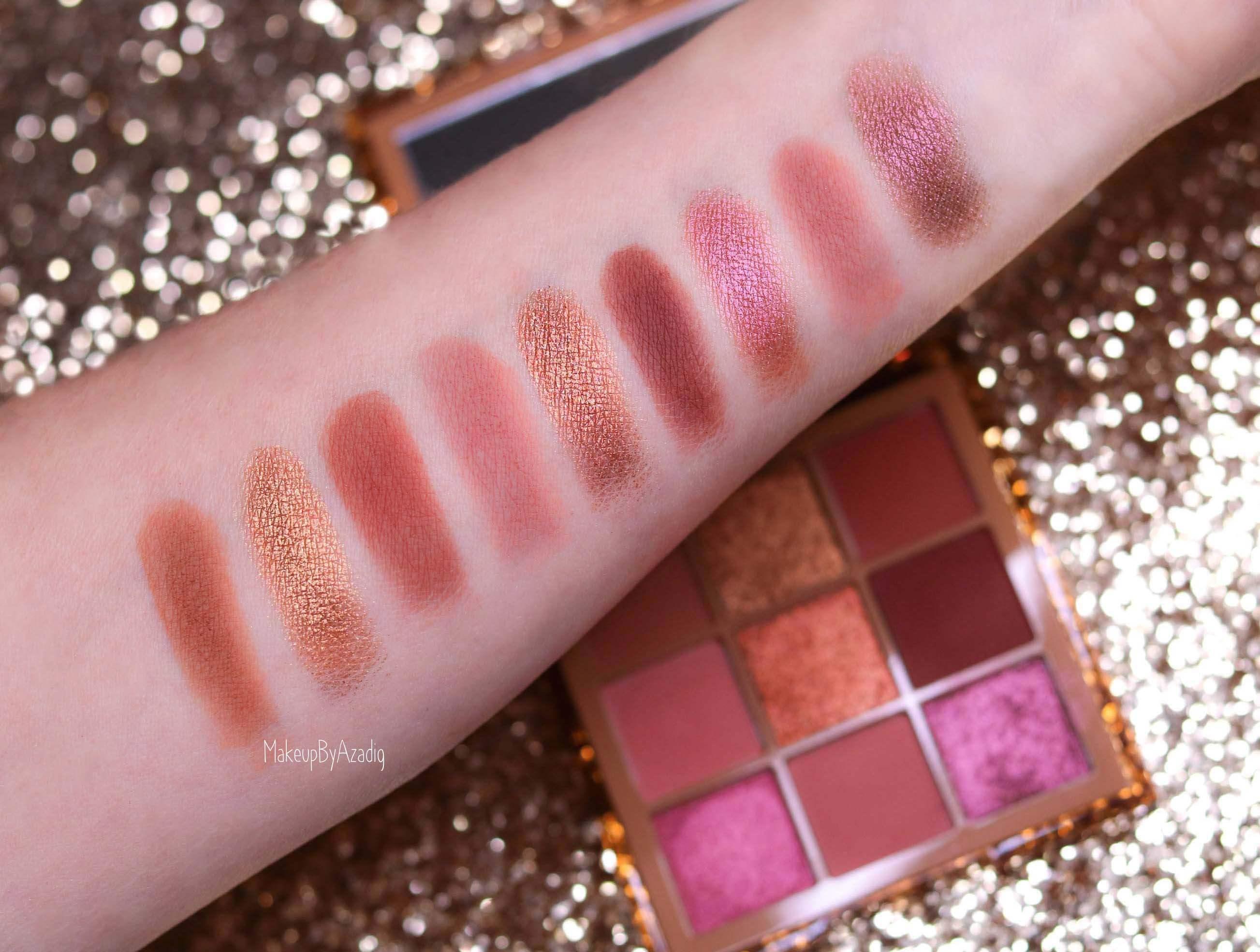 revue-palette-nude-obsessions-medium-huda-beauty-makeupbyazadig-avis-swatch-prix-dark-light-sephora-swatches